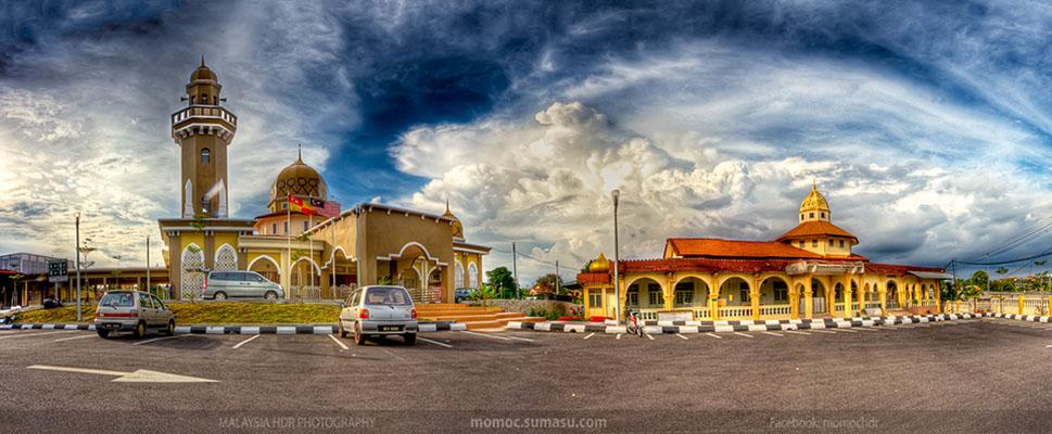 sg ramal mosque panoramic photography