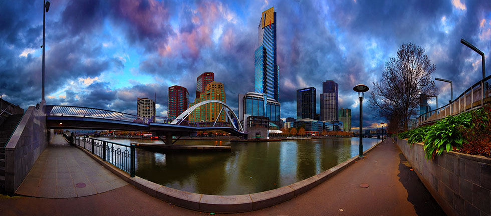 yarra river panoramic photography