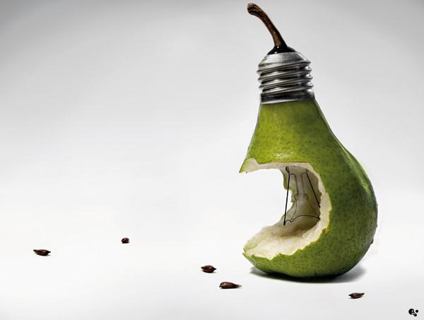 bulb photo manipulation