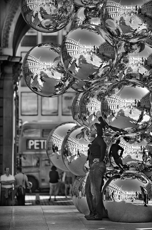 2 black white photography