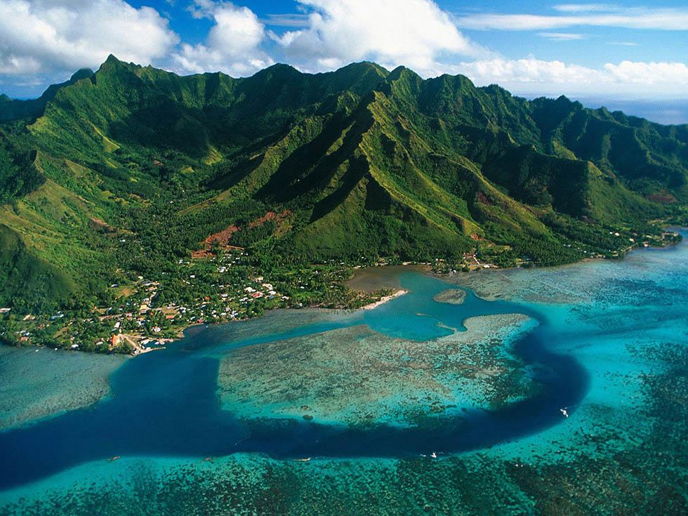 moorea island aerial photography -  20