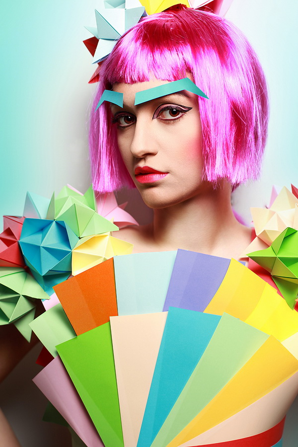 23 paper girl fashion photography