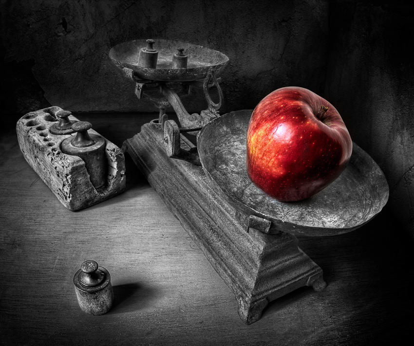 3 apple still life photography