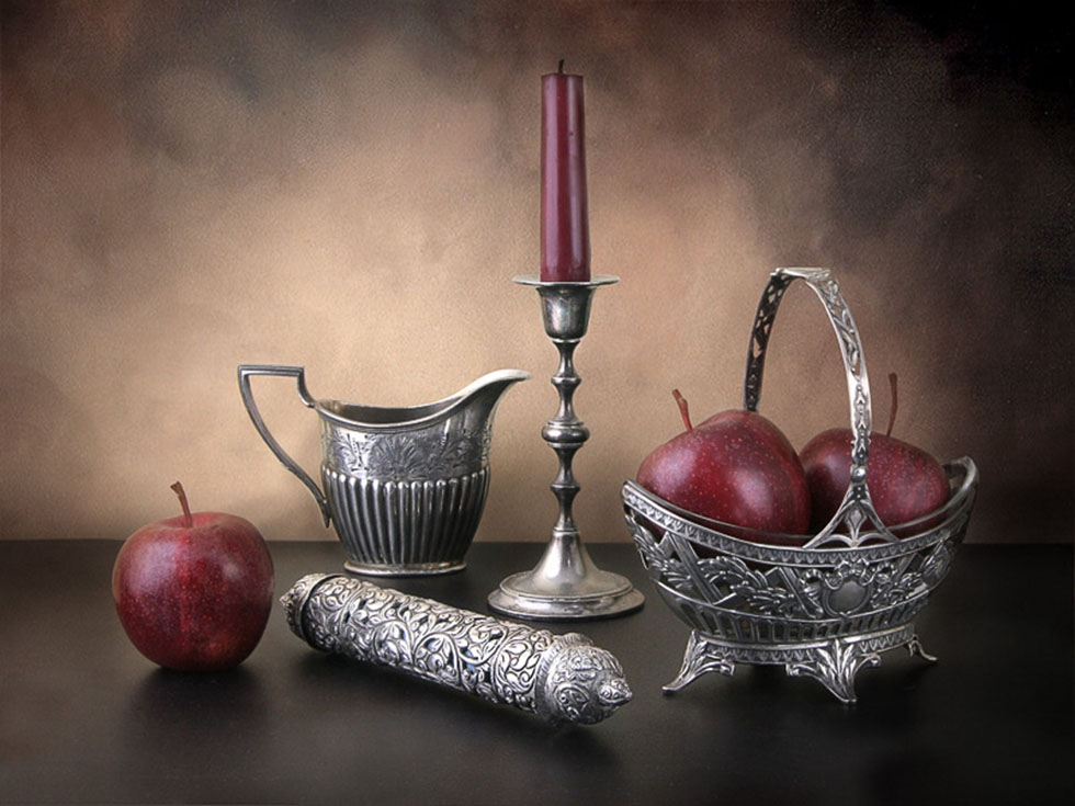 4 apples still life photography