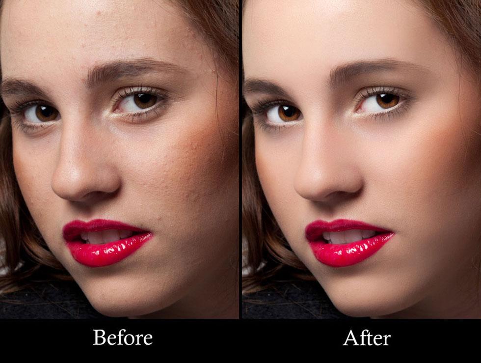 5 girl photo retouching