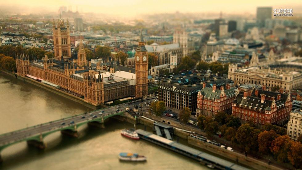 london tilt shift photography