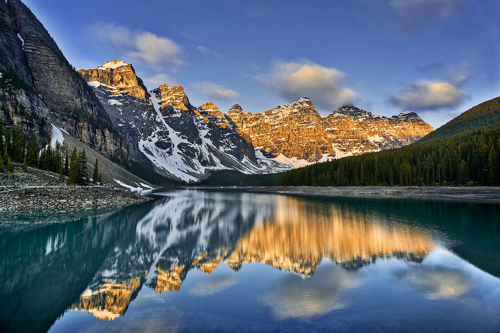 moraine lakes landscape photography