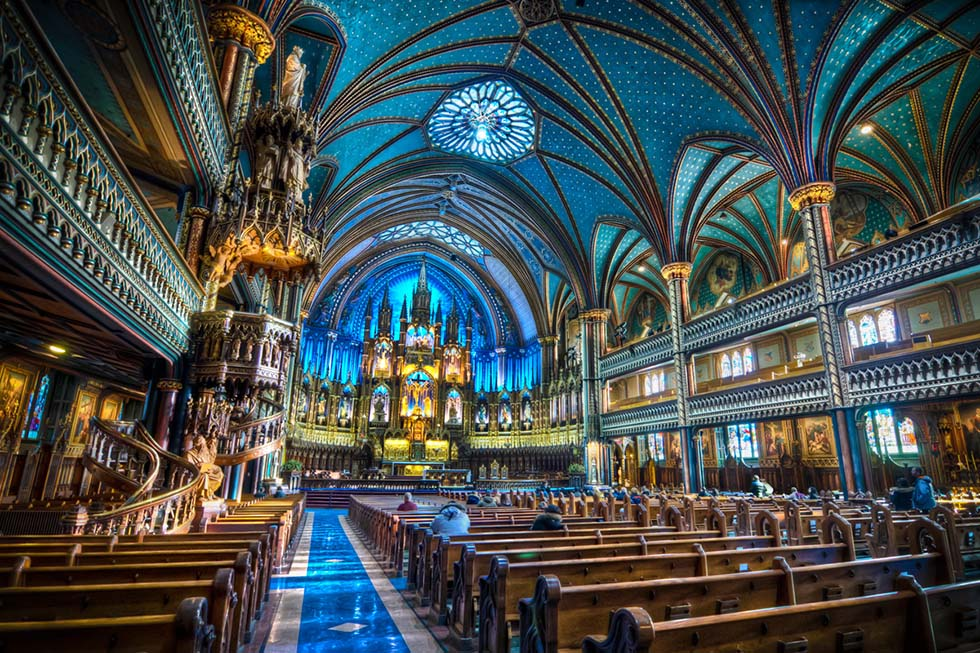notre dame montreal hdr photo
