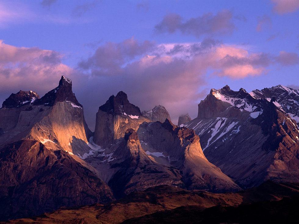 twilight mountain photography