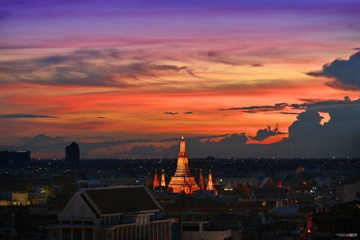travel photography sunset by jkboy jatenipat