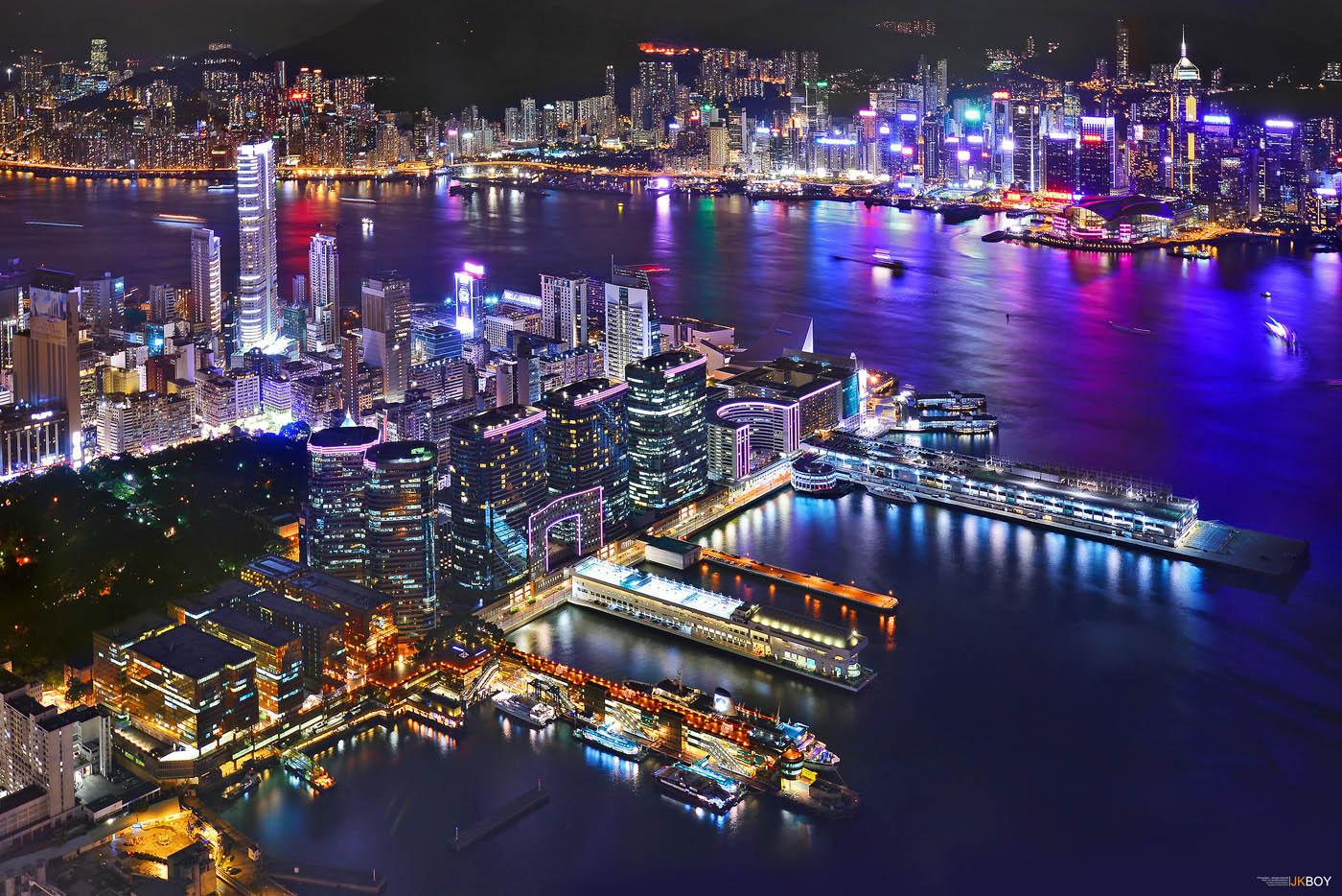 14 night city travel photography victoria harbour by jkboy jatenipat