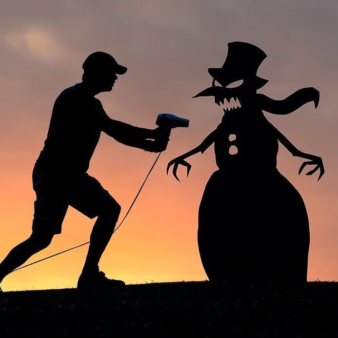 silhouette photography cardboard cutout evil by john marshall