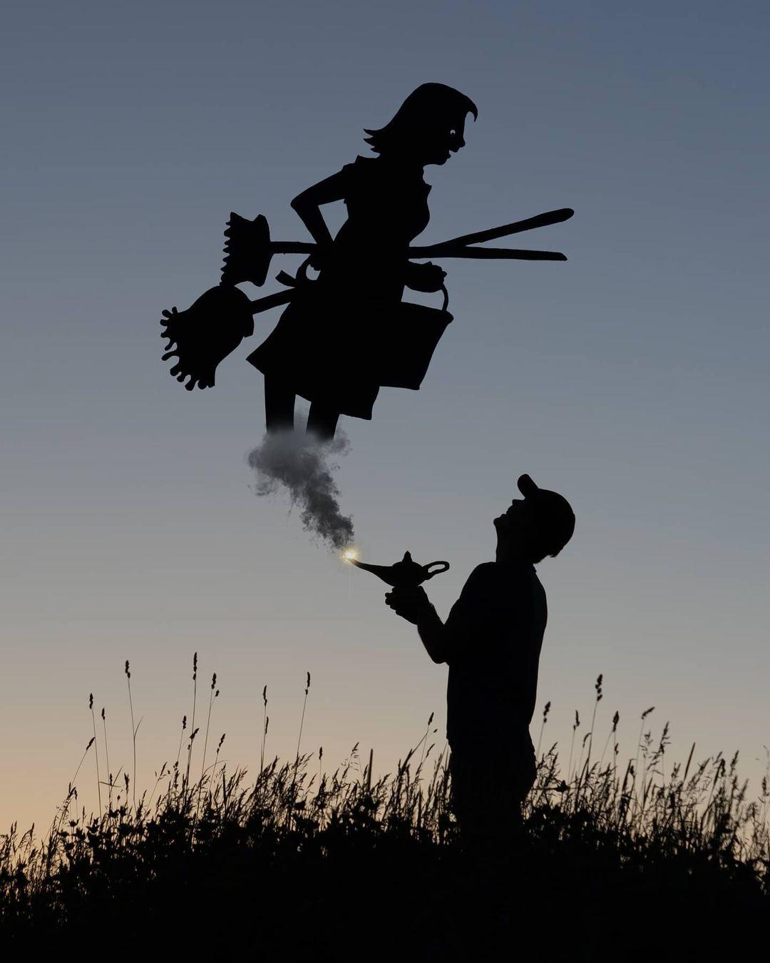silhouette photography cardboard cutout goblin by john marshall