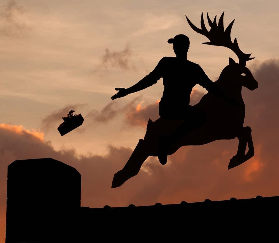 cardboard silhouette photography cutout reindeer by john marshall