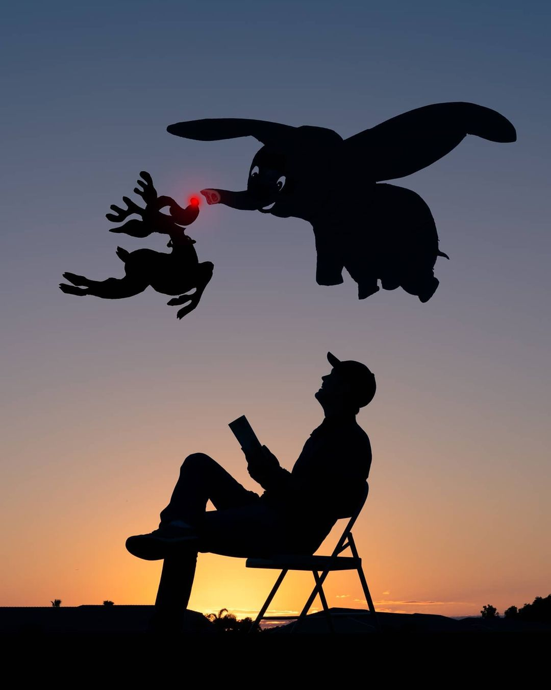 cardboard silhouette photo cutout deer by john marshall