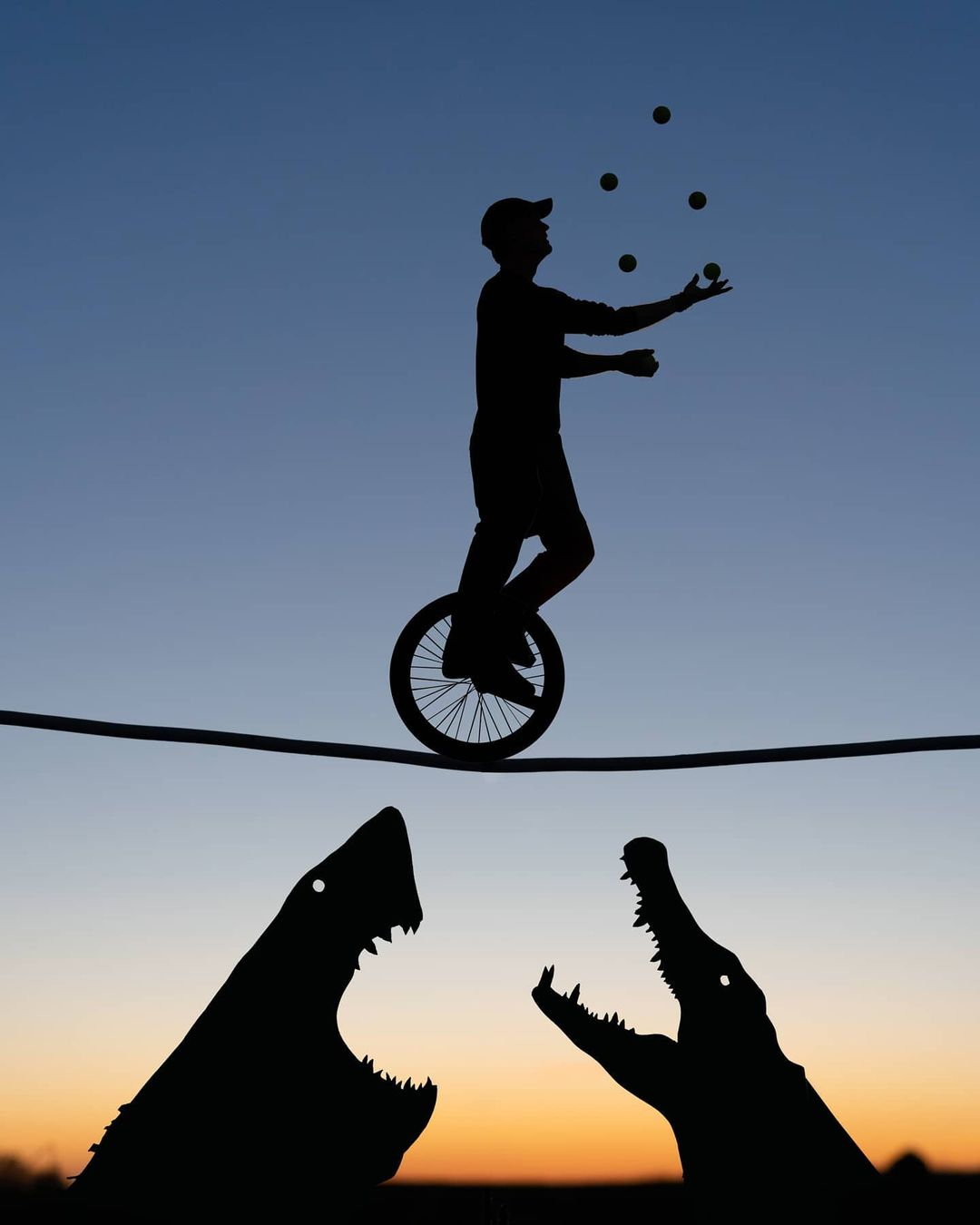 cardboard silhouette photography cutout juggling by john marshall