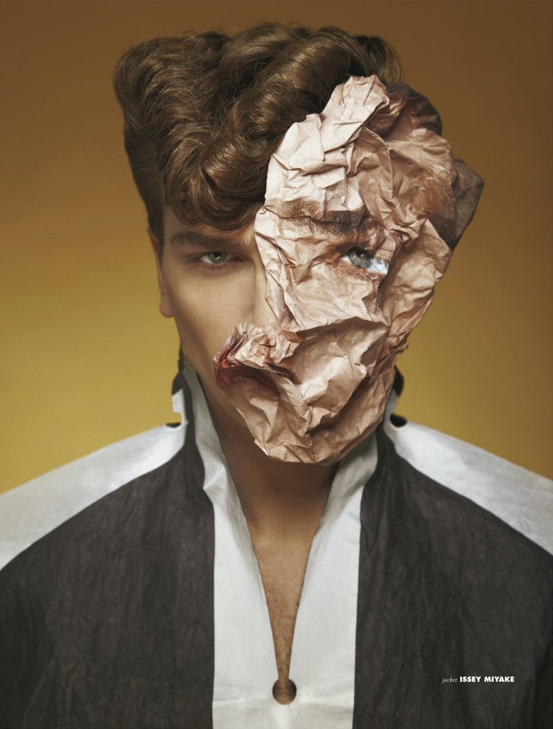 surreal fashion photography crumbled face by madame peripetie