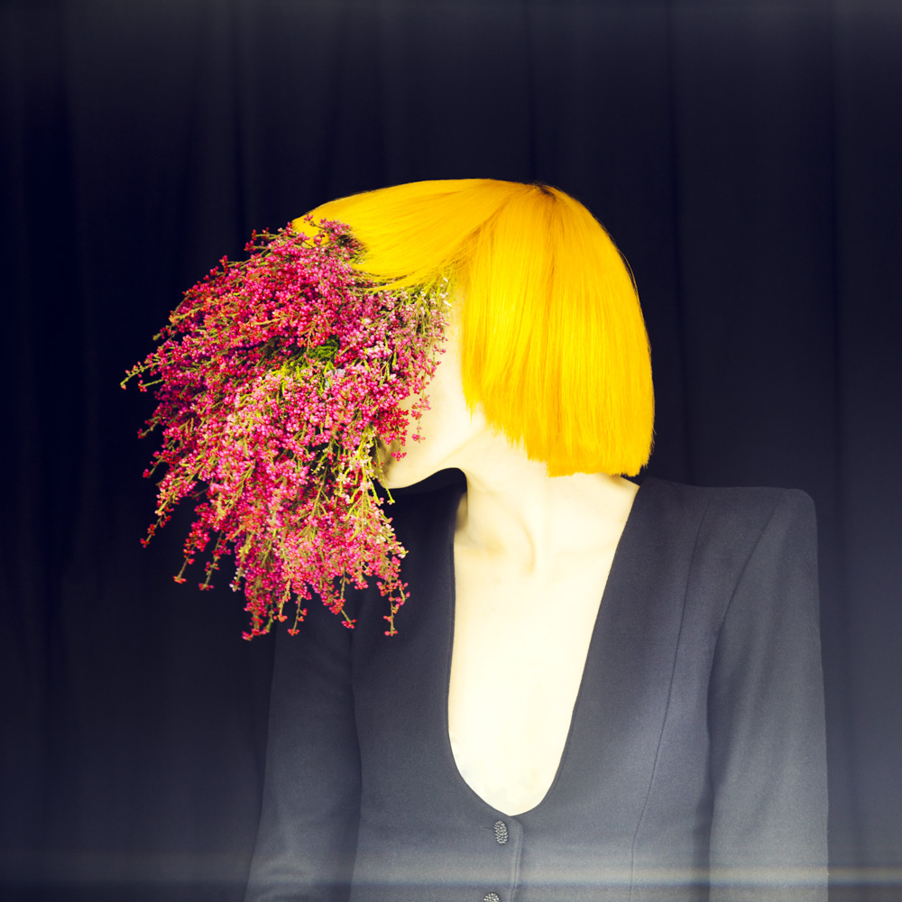 surreal fashion photography flower face by madame peripetie