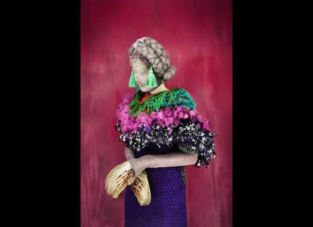 surreal fashion photography woollen clothes by madame peripetie