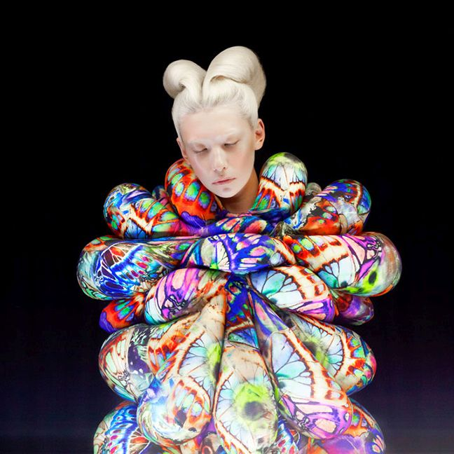 surreal fashion photography balloon dress by madame peripetie