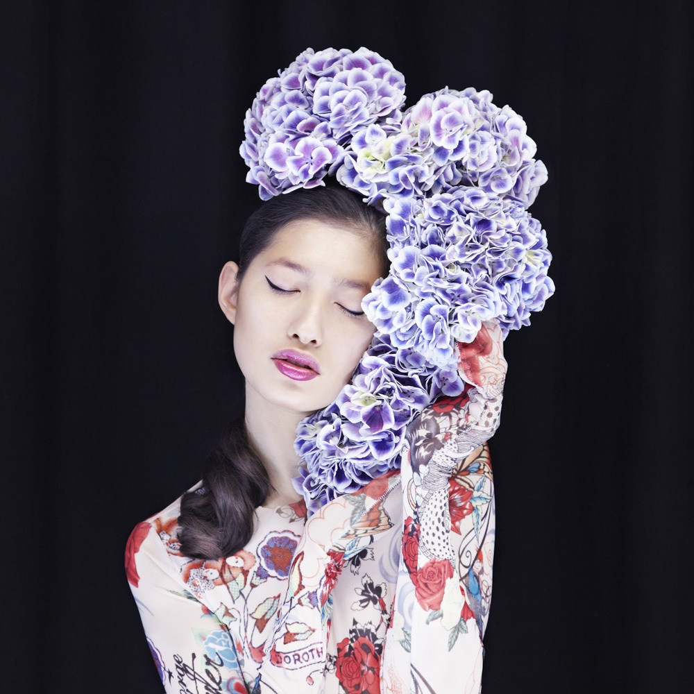 surreal fashion photography bloom flowers dream by madame peripetie