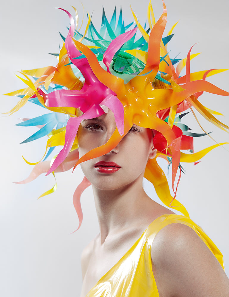 fashion photography recycled hat by jackson carvalho