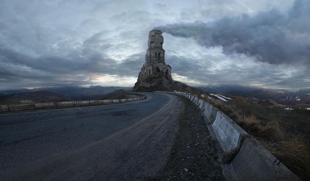 photography landscape broken building by denis bodrov