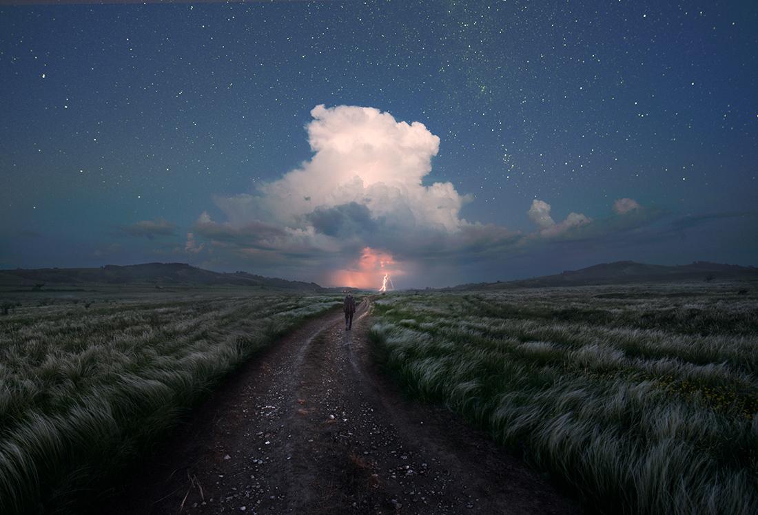 2 photography landscape distant lightning by denis bodrov