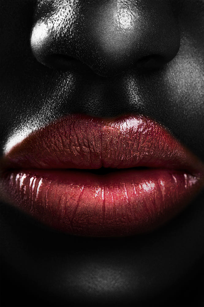 portrait photography lips nose by jackson carvalho