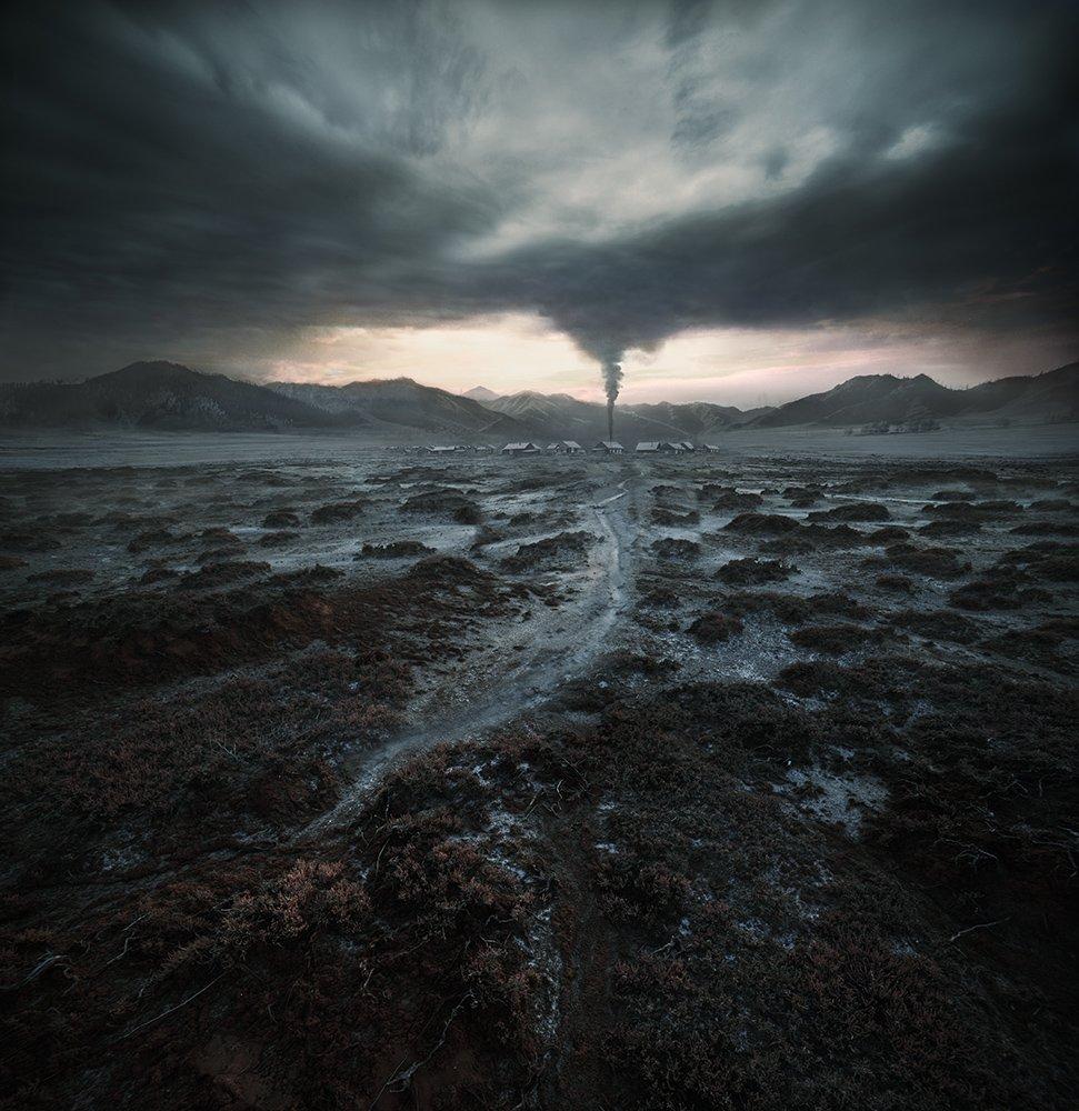 photography landscape tornado by denis bodrov