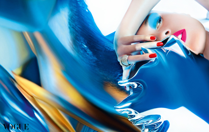 fashion photography blue fluid by andreas stavrinides