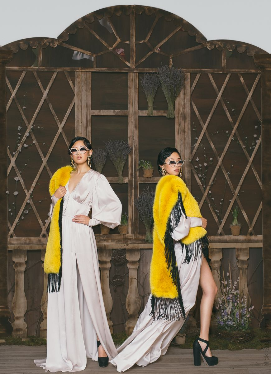 fashion photography yellow dress by nick sushkevich