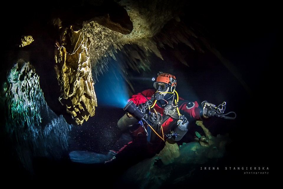 underwater cave photography by irena stangierska