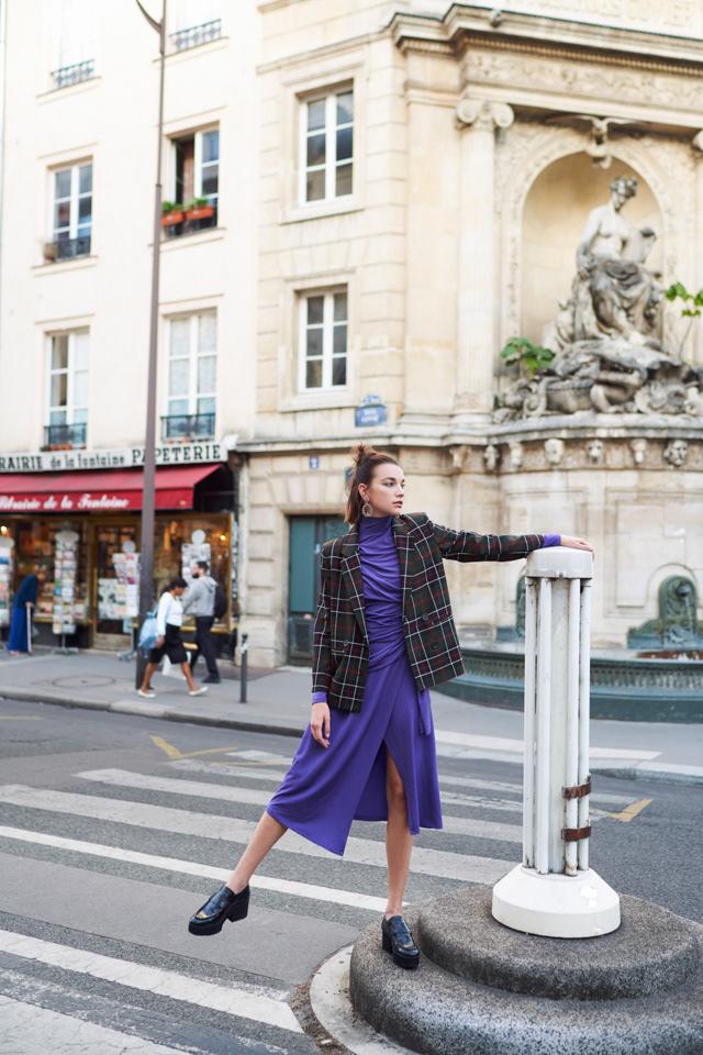 fashion photography purple dress by pauline darley