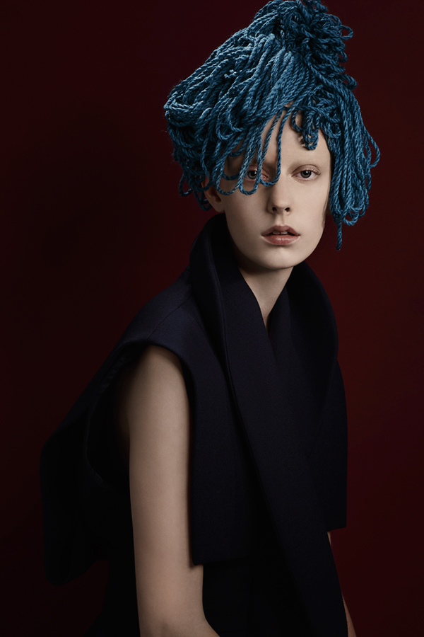 fashion photography wollen hair by pauline darley