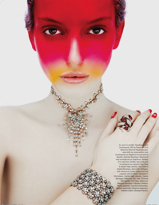 fashion photography pink face by andreas stavrinides