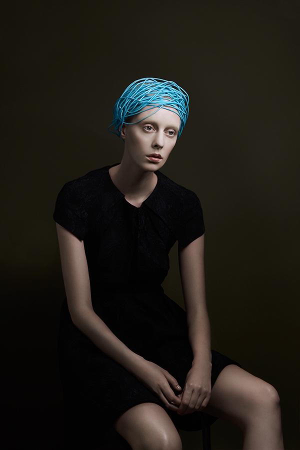fashion photography blue hair by pauline darley
