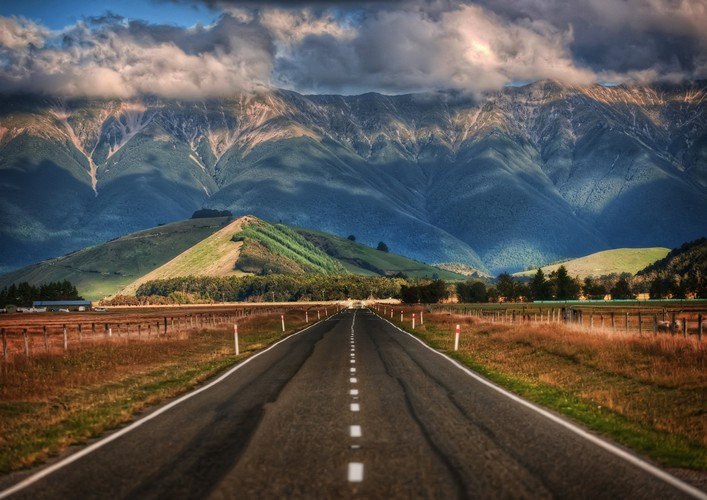 long road new zealand photograph by trey ratcliff