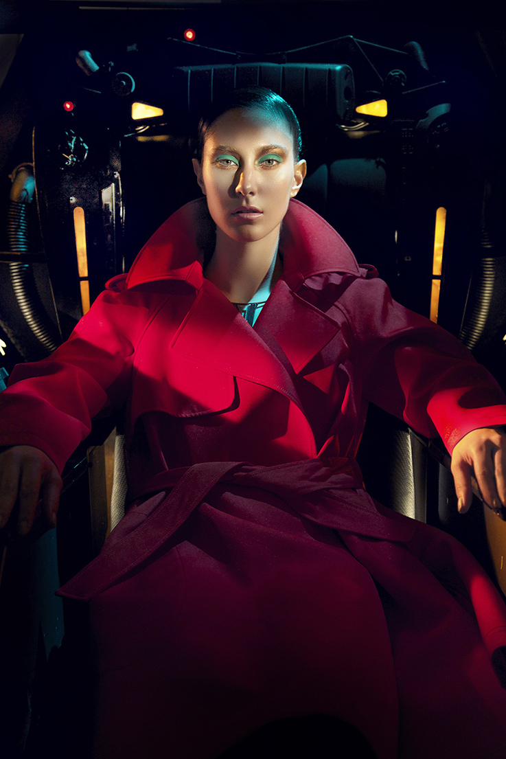 fashion photography red jacket by andreas stavrinides