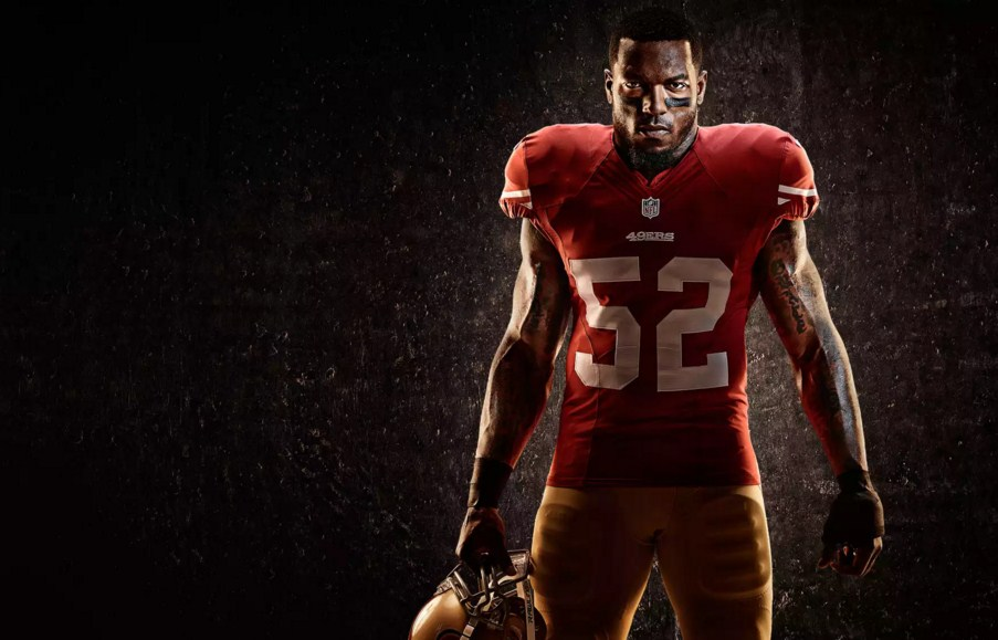 football player portrait photography by tim tadder
