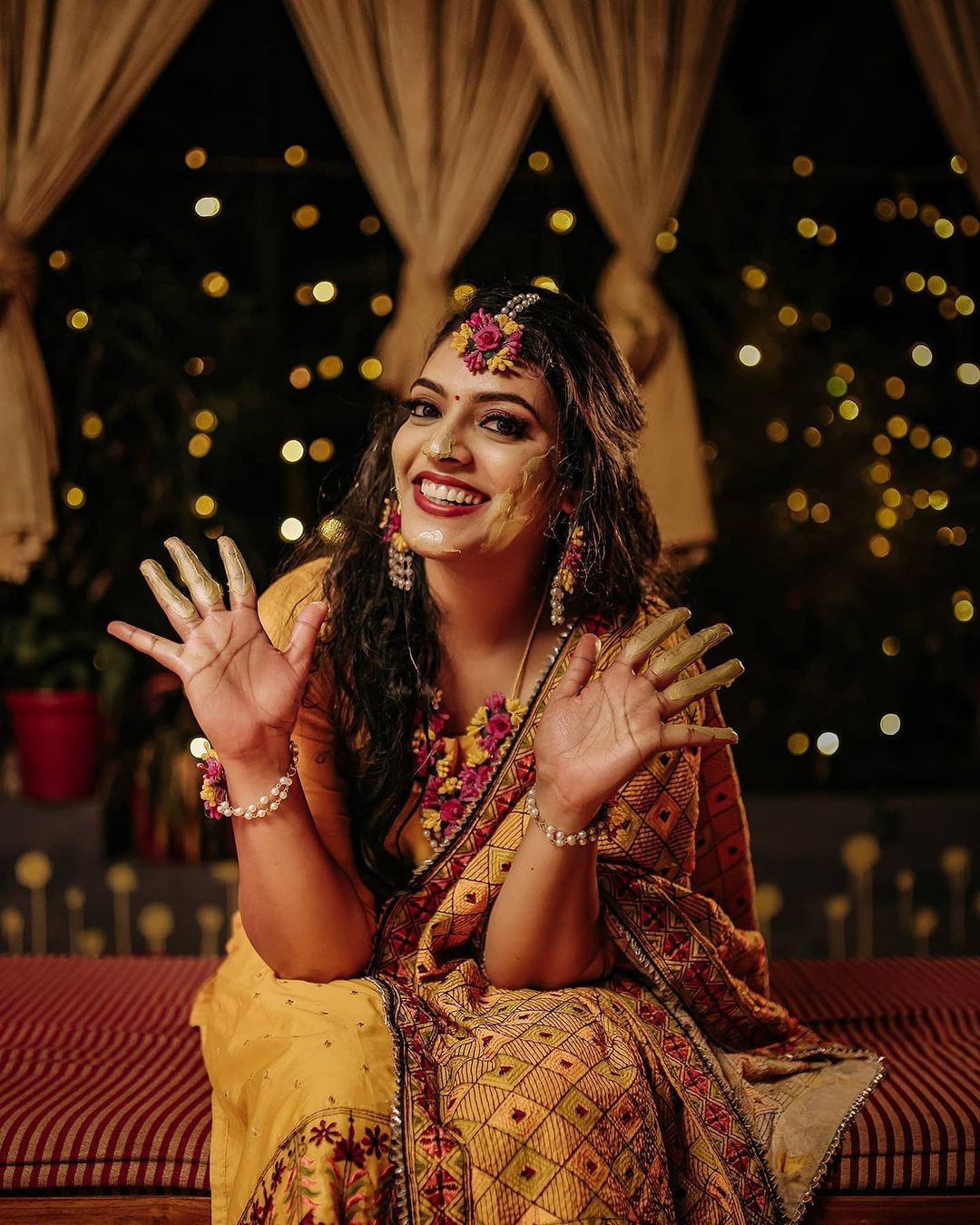 19 wedding photography haldi pretty bride by nidhin foma