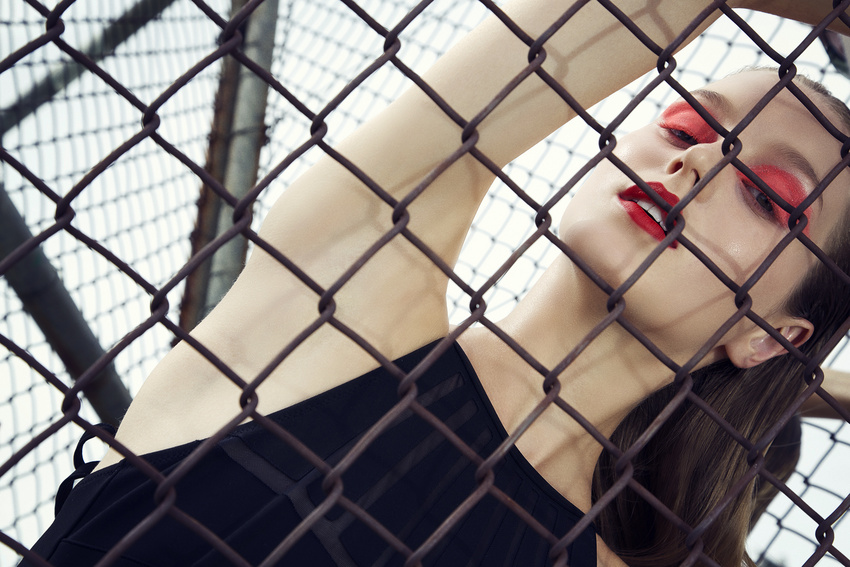 fashion photography black mesh by andreas stavrinides