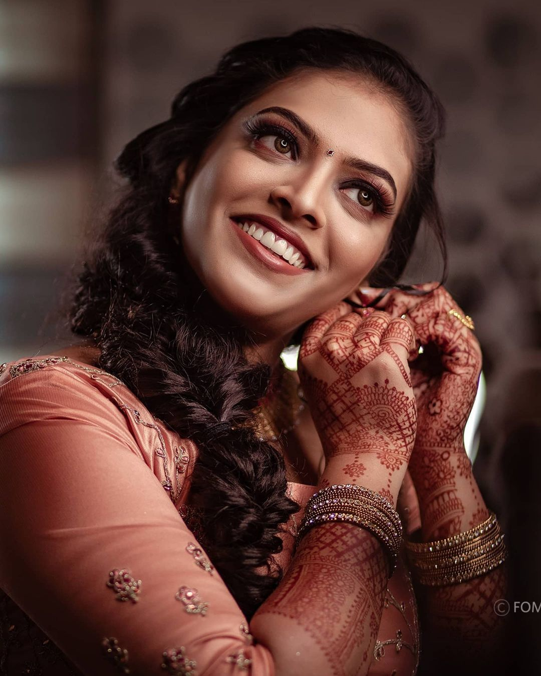 wedding photography bride earring by nidhin foma