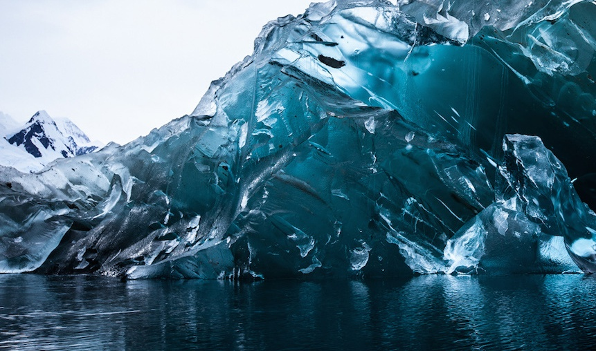 antarctica blue ice photography by alex cornell