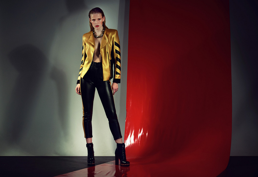 fashion photography golden jacket by andreas stavrinides