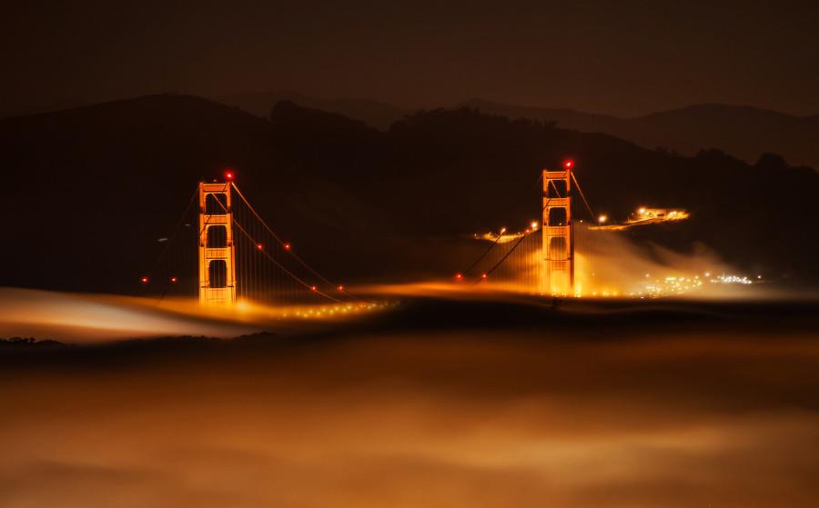 san francisco bridge fog photograph by trey ratcliff