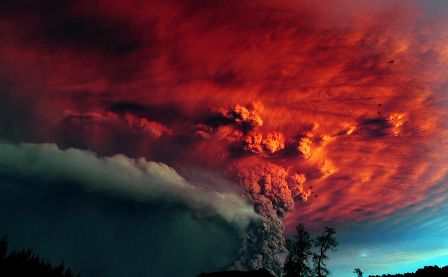 ash billowing volcano photography by francisco negroni