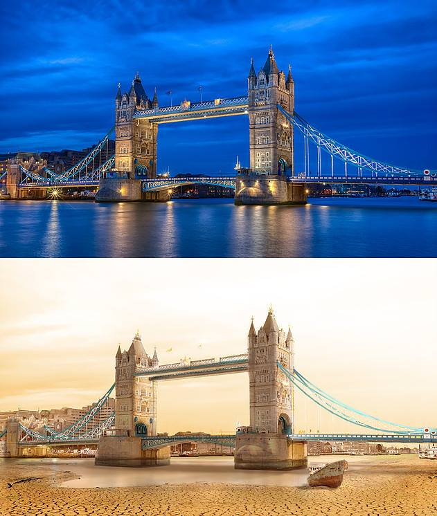 tower bridge london photo manipulation by joel krebs