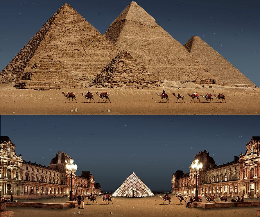 great pyramid giza photo manipulation by joel krebs
