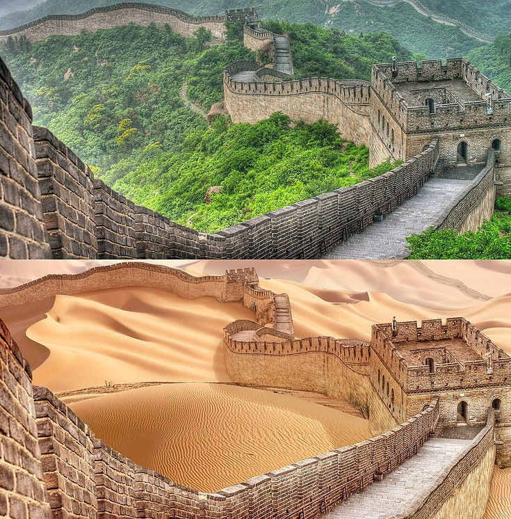 great wall china photo manipulation by joel krebs